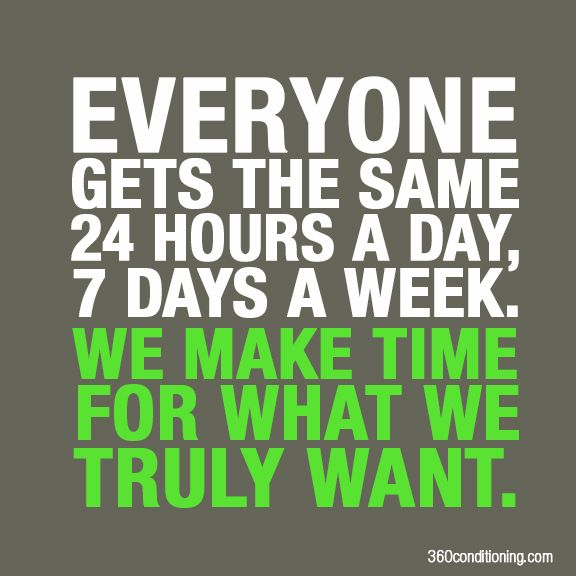 EVERYONE Gets The Same 24 Hours A Day, 7 Days A Week. We