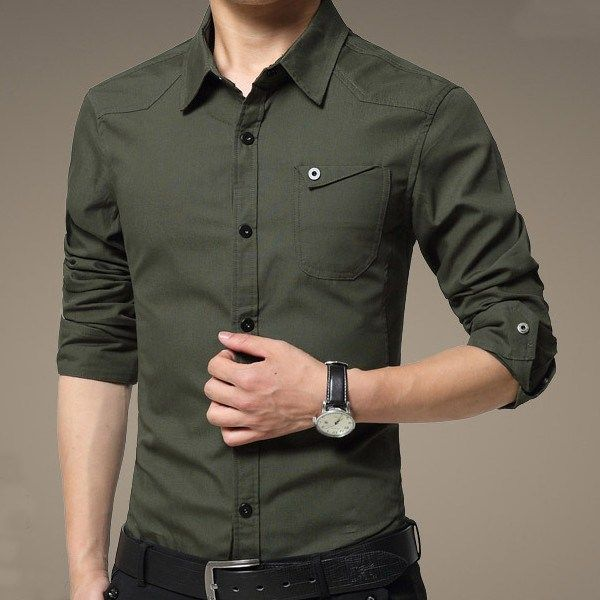 Mens Casual Cotton Dress Slim Fit Shirt can be such an exquisite addition to a gentlemen's wardrobe which could attract eyeballs of everyone around you. #tshirt #poloshirt #businessshirt #casualshirt #Menshirt #menfashion