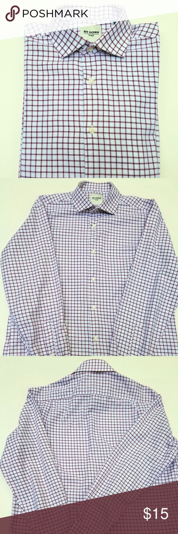 Ben Sherman Tailored Slim Fit Dress Shirt Ben Sherman Tailored Slim Fit dress shirt with spread collar. Excellent condition. No stains, holes or missing buttons. Size M (15 1/2) Ben Sherman Shirts Dress Shirts