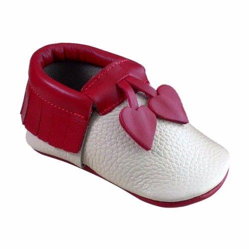 Kalpli Makosen Bebek Ayakkabı Kımızı bej - Sanatkardan