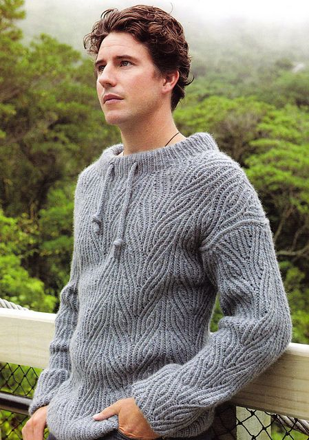 Men's Sailing Sweater by Claudia Pacheco  I wish this had a hood. Number 2 son wants a hoodie. Either that or I wish I knew enough about design to add one on...