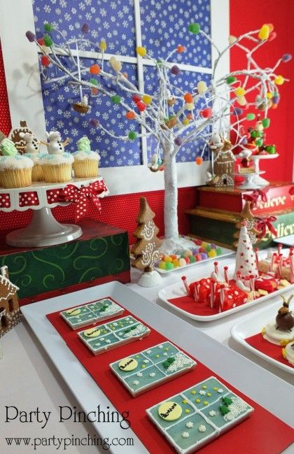 Christmas Dessert Table - 'TWAS THE NIGHT BEFORE CHRISTMAS - Party Planning - Party Ideas - Cute Food - Holiday Ideas -Tablescapes - Special Occasions And Events - Party Pinching