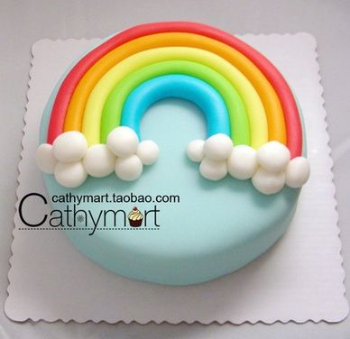 Best 25 Fondant rainbow ideas on Pinterest Rainbow cakes Girly