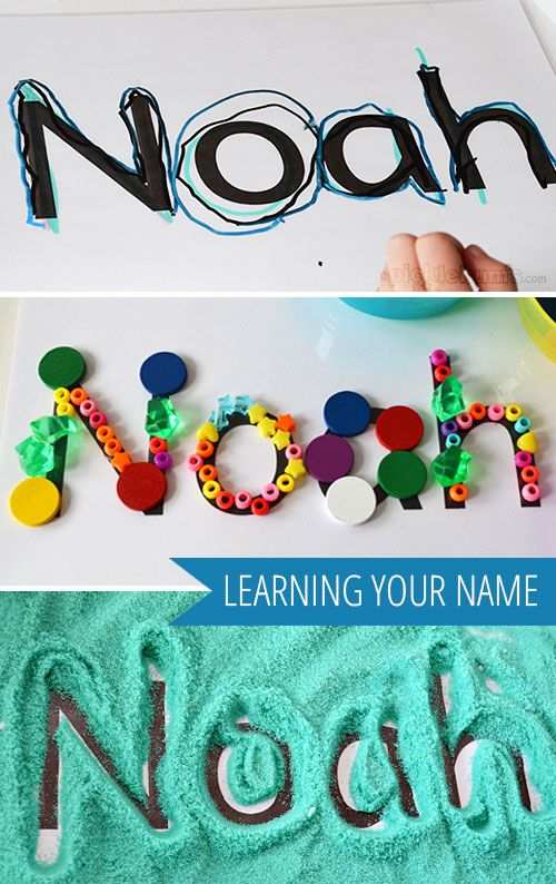 "Learning Your Name... three playful ways to help children learn to recognise their name - from picklebums ("",)"