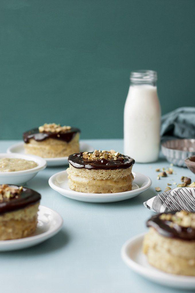 Mini Pistachio Boston Cream Pies (The Candid Appetite) | Twists, Girls ...