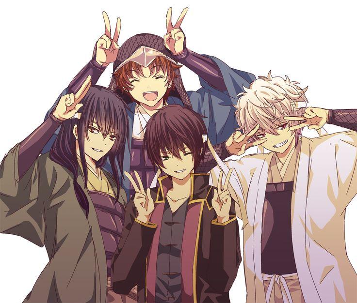 Katsura Kotaro, Sakamoto Tatsuma, Takasugi Shinsuke, and Sakata Gintoki