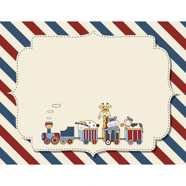 fundo infantil customizável para o anúncio do chá de fraldas ou festa de aniversário Vetor grátis