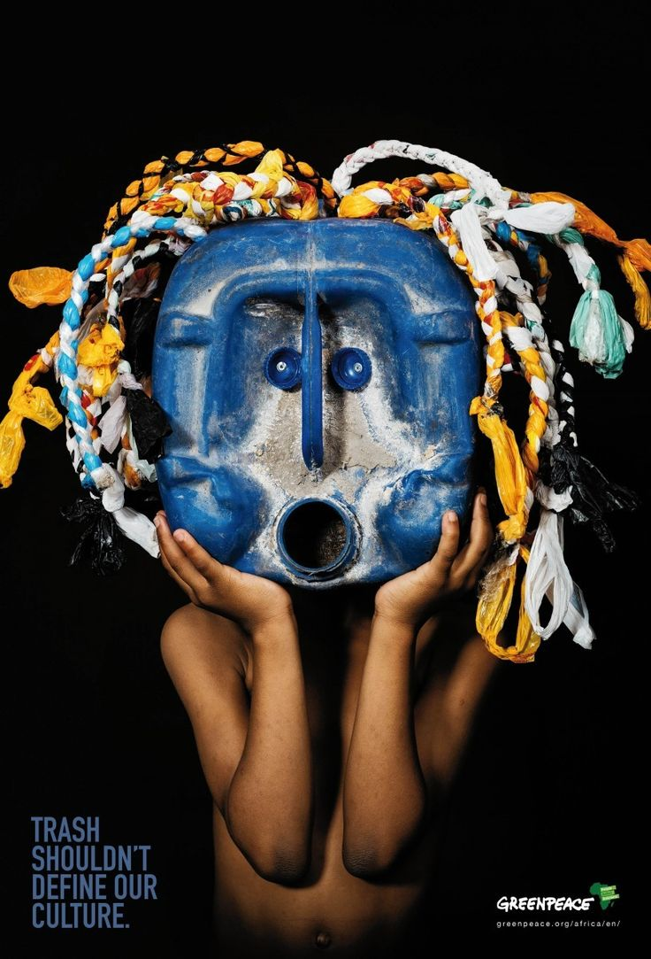 """Blue Mask"" by Advantage Y&R for Greenpeace Africa"