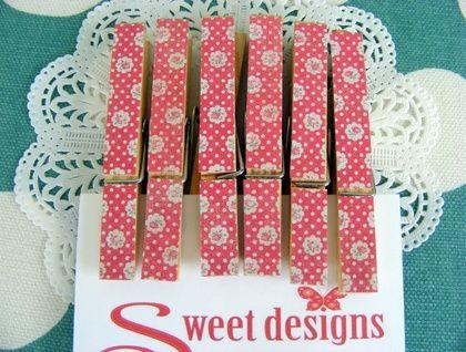 Floral Peg Magnets
