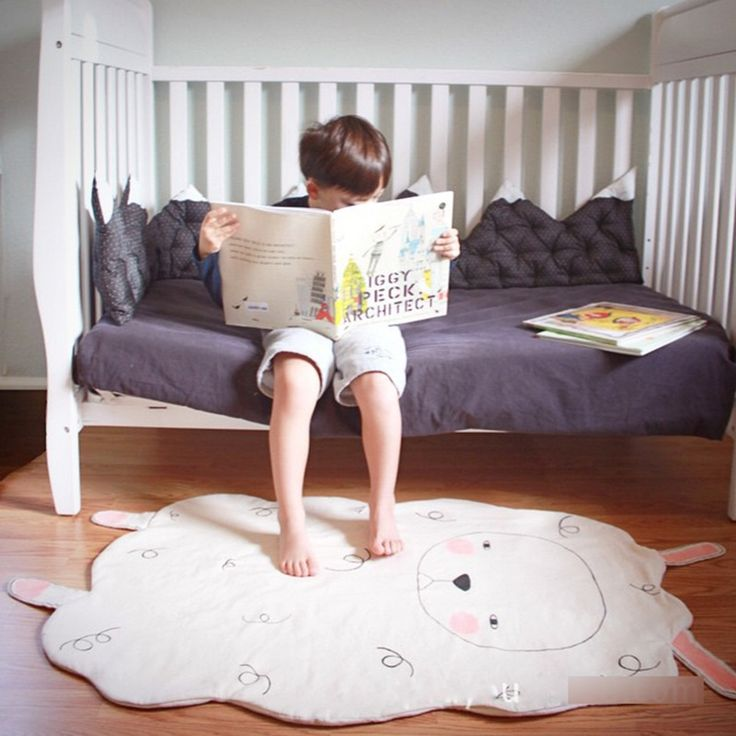 53.91$  Watch now - http://alizyo.worldwells.pw/go.php?t=32677927589 - 2016 Sheep Baby Blanket Blanket Crawling Game Pad Newborn Infant Baby Blanket Blanket Swaddling For Bed Sofa Cobertores B2 53.91$