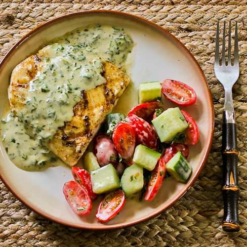 Switch up the old grilled burgers with a seafood twist. This Grilled Halibut with Basil Vinaigrette is sure to be a crowd pleaser.
