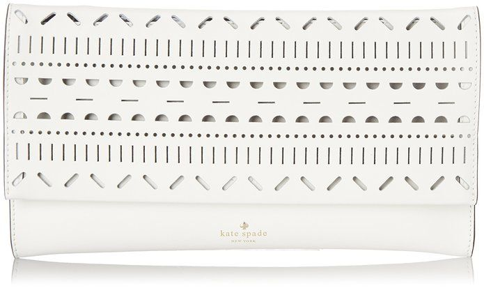kate spade new york Lillian Court Neva Clutch, Bright/White, One Size