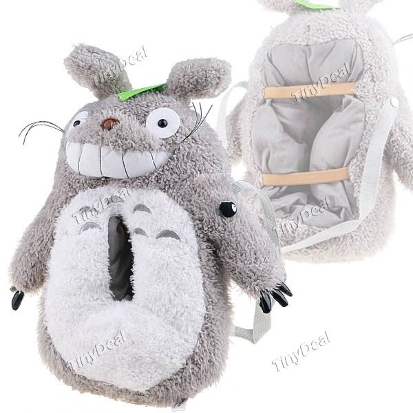 Cute Totoro Shaped Plush Tissue Paper Extraction Holder Bag FTY-97651