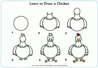 Learn to Draw a Chicken and many other animals.