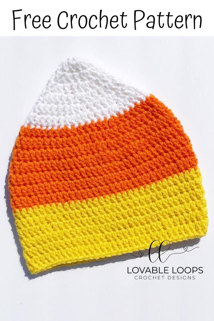 Crochet Hat Patterns Candy Corn Hat Pattern INSTANT DOWNLOAD Infant Crochet Pattern