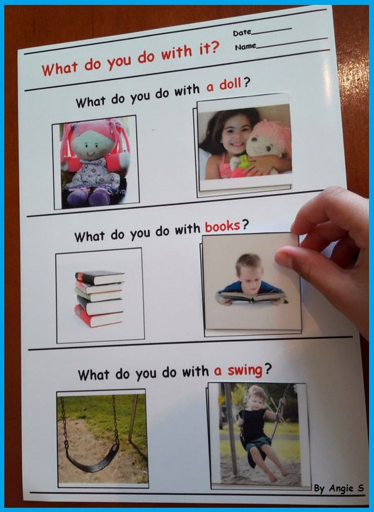 Autism Activity - What Do You Do With It? For more resources follow https://www.pinterest.com/angelajuvic/autism-special-education-resources-angie-s-tpt-sto/
