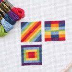 Rainbow Coins Mini Quilt Tutorial - The Crafty Mummy