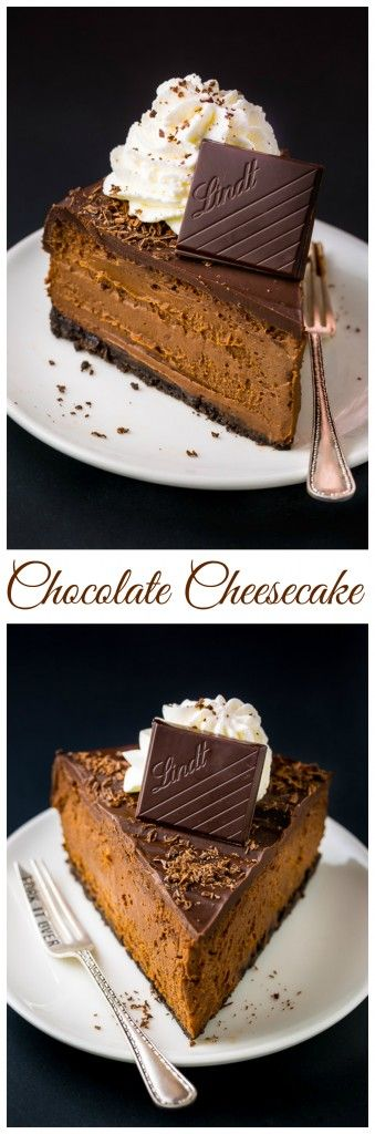 Holy YUM!!! This Chocolate Mascarpone Cheesecake is so rich and creamy.