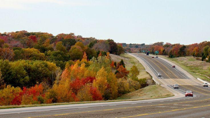 Peak color along Athens' 55-mile driving trail.