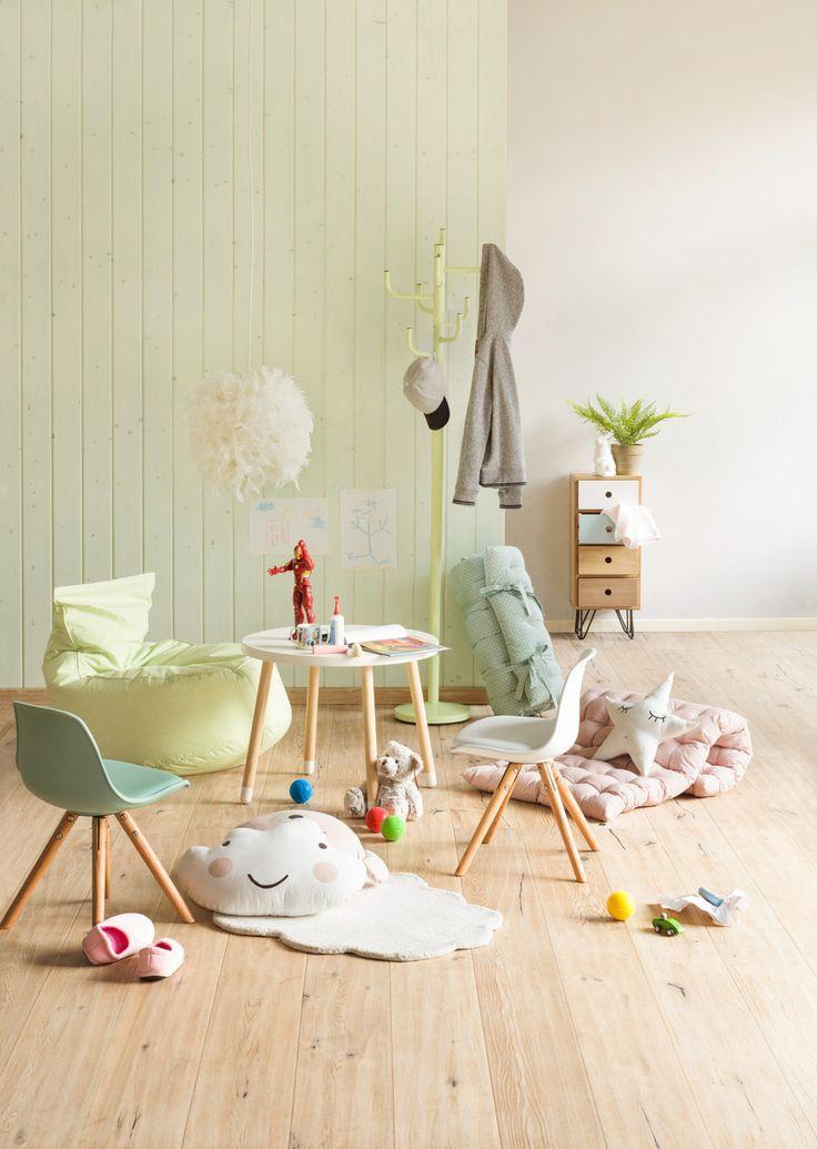 Micasa Kinderzimmer mit Kindersitzsack LILI und Zierkissen NUBES