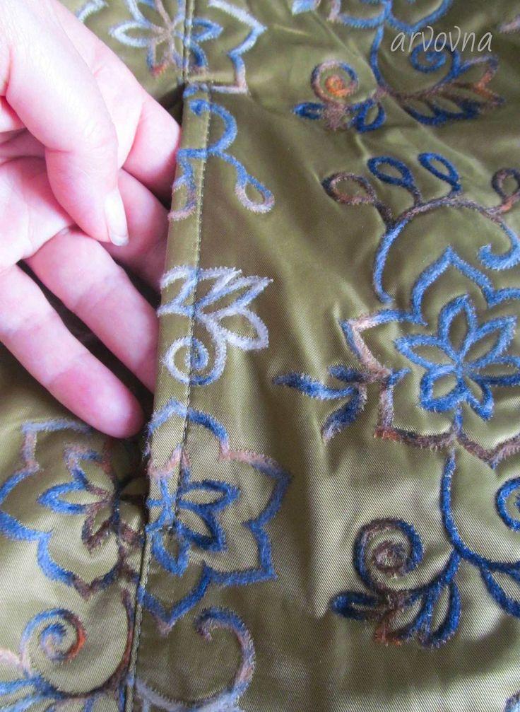 Обработка кармана в рельефном шве