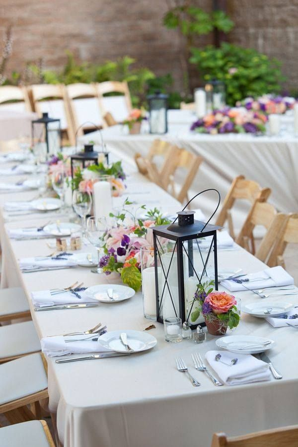 188 best long table centerpieces images on pinterest for Long table centerpieces