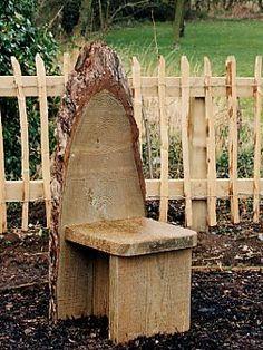 Drift wood chair for garden.