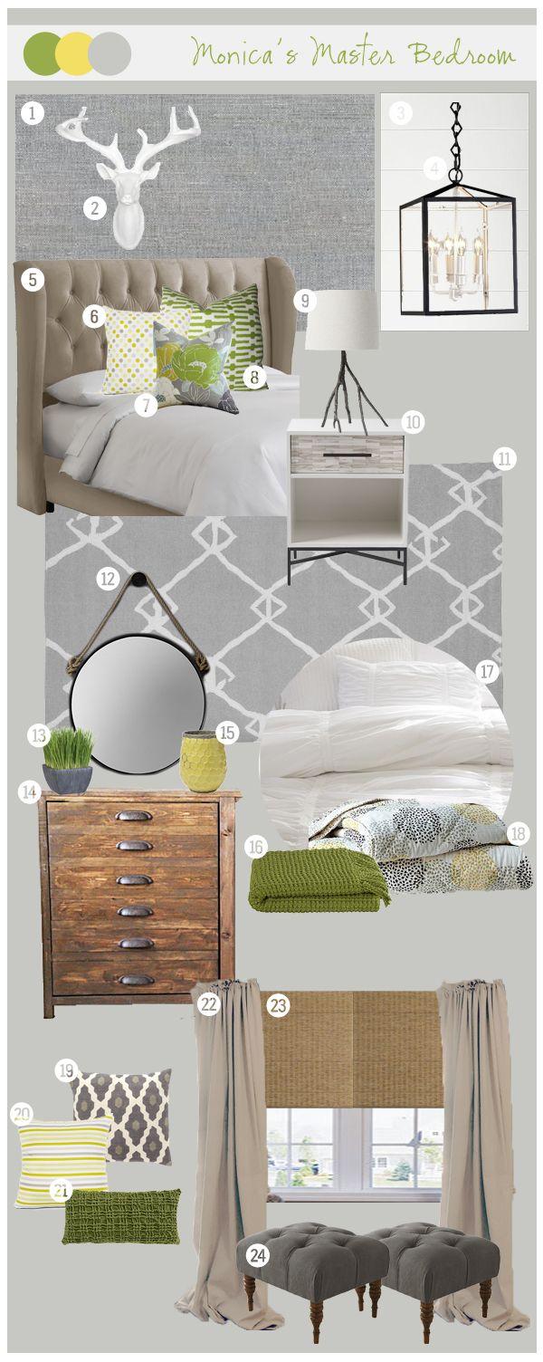 Cape 27 Custom Mood Boards: Monica's Master Bedroom