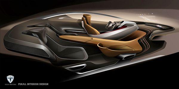 Car Interior Design: Tesla Model-S 2025 Interior Design On Behance