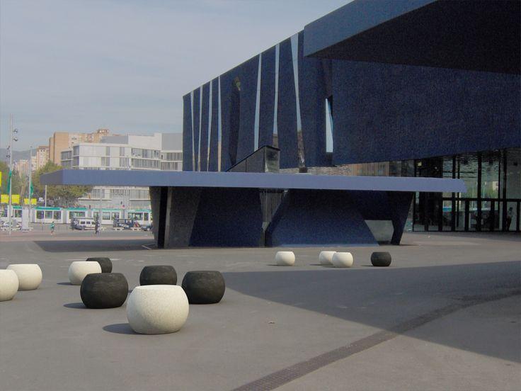 SFERA bollards. #concrete and #marble street furniture. #Bellitalia
