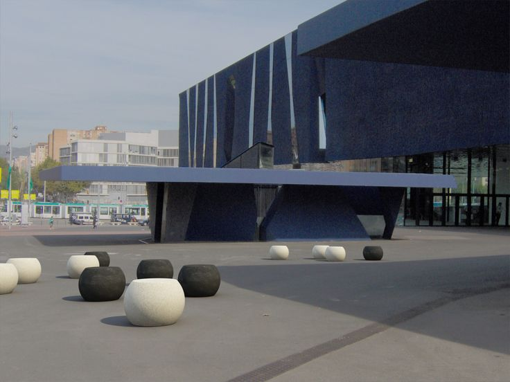 SFERA bollards. #concrete and #marble street furniture. #Bellitalia