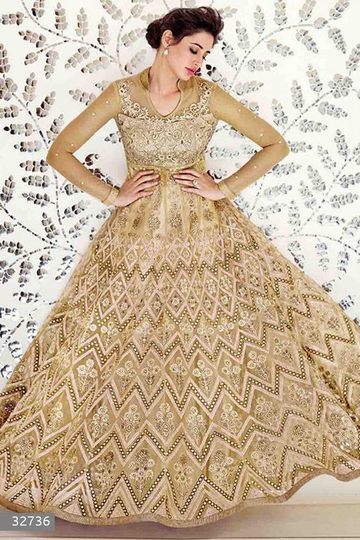 Nargis Fakhri - Beige Net Anarkali Suit with Embroidered and Lace Work - Z2570P32736-1 #designer #salwar #kameez @ http://zohraa.com/salwar-kameez.html #zohraa #onlineshop #womensfashion #womenswear #bollywood #look #diva #party #shopping #online #beautiful #salwar #kameez #beauty #glam #shoppingonline #styles #stylish #model #fashionista #women #lifestyle #girls #anarkali #suit #nargisfakhri