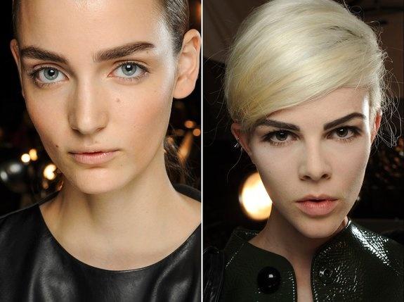 Esqueça as sobrancelhas finas: na Semana de Moda de Nova York, os fios ganharam o reforço da maquiagem para que elas ficassem mais grossas e bem desenhadas. Alexander Wang, Marc Jacobs e Jason Wu são apenas três dos designers que apostaram no estilo.