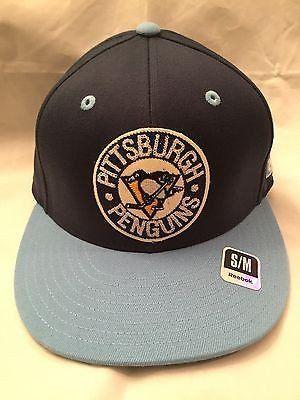 NHL Pittsburgh Penguins Adult Retro Small/Medium Reebok Flex Fit Hat  www.mancavesonline.com