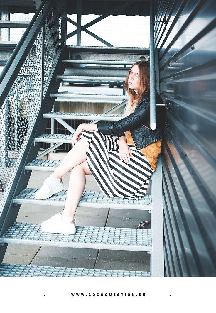STYLE SEVEN APRIL: Looks mit Streifen | Lederjacke, Kleidung