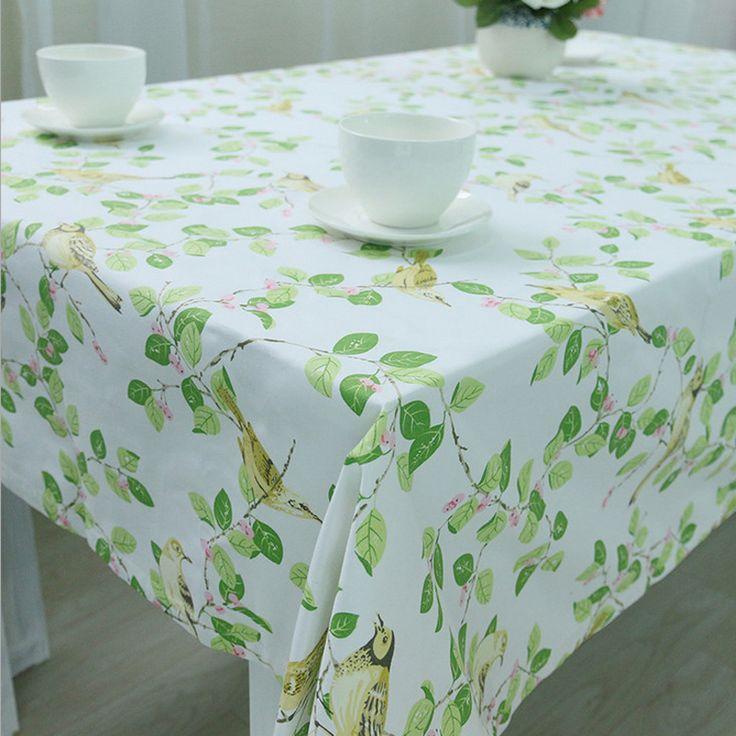 Tablecloth Pastoral Decoration Table Cloth Crochet Leaves Bird Pattern Toalha De Mesa Cover Manteles Para Mesa Rectangulares #Affiliate