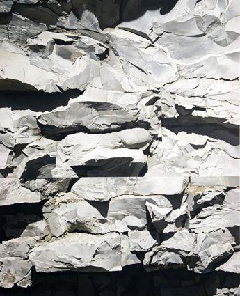 Sérgio Costa: Works - Strata #6, 2008  oil on canvas  200x162,5 cm