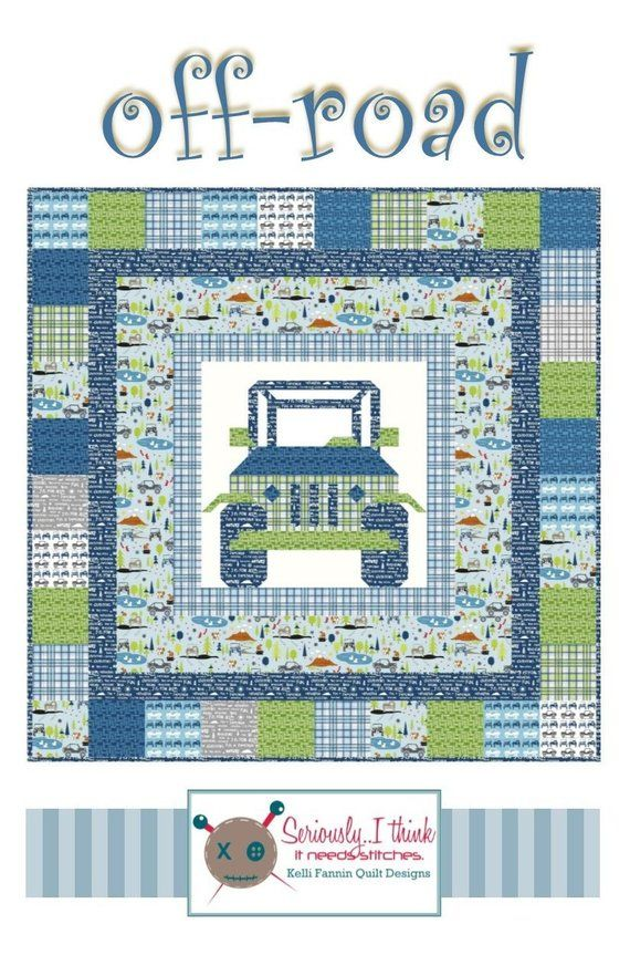 Off Road Quilt Pattern With Images Quilts Boys Quilt Patterns