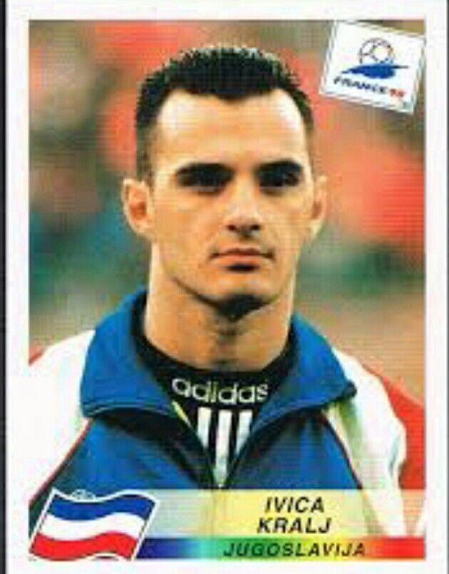 Ivica Kralj of Yugoslavia. 1998 World Cup Finals card.