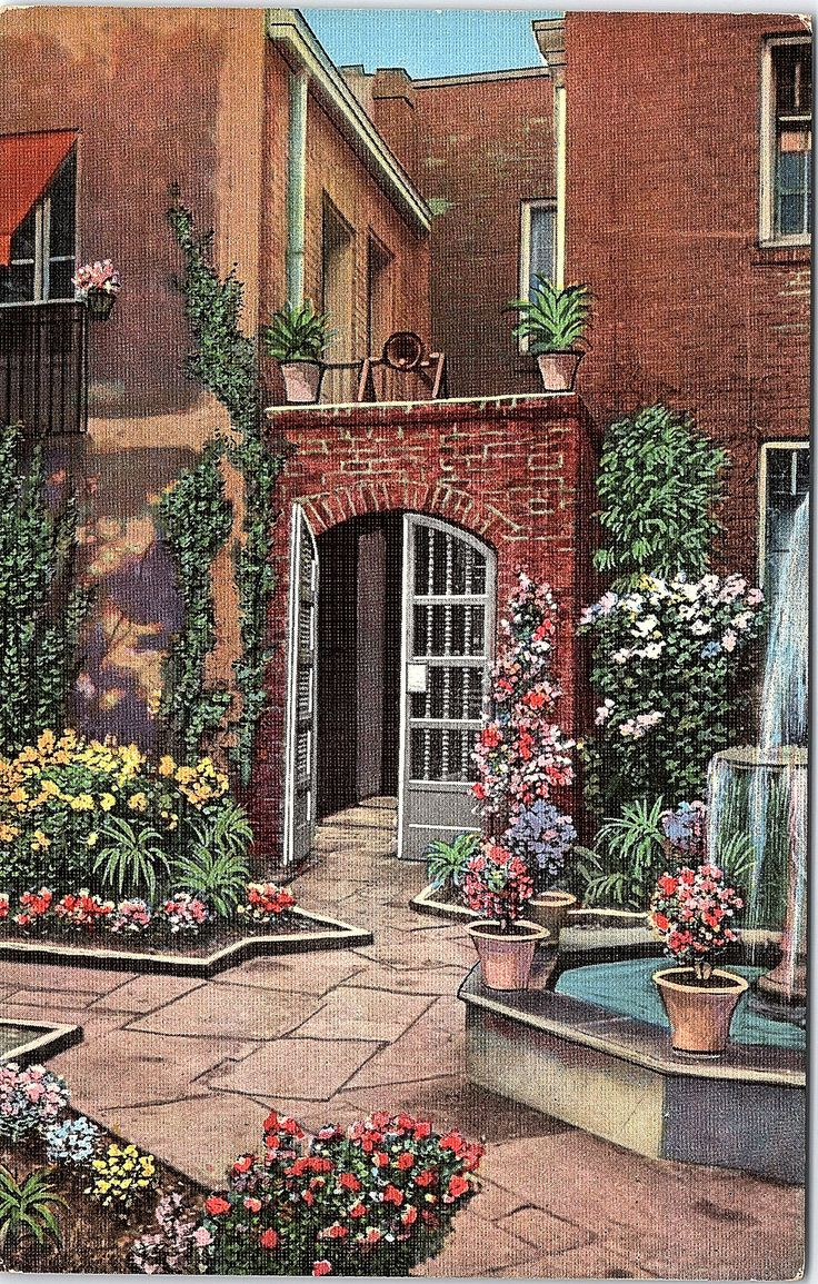 New Orleans, Louisiana, Little Theatre Courtyard - Vintage Postcard - Postcard - Unused (TTT) by postcardsofthepast on Etsy https://www.etsy.com/listing/531216489/new-orleans-louisiana-little-theatre