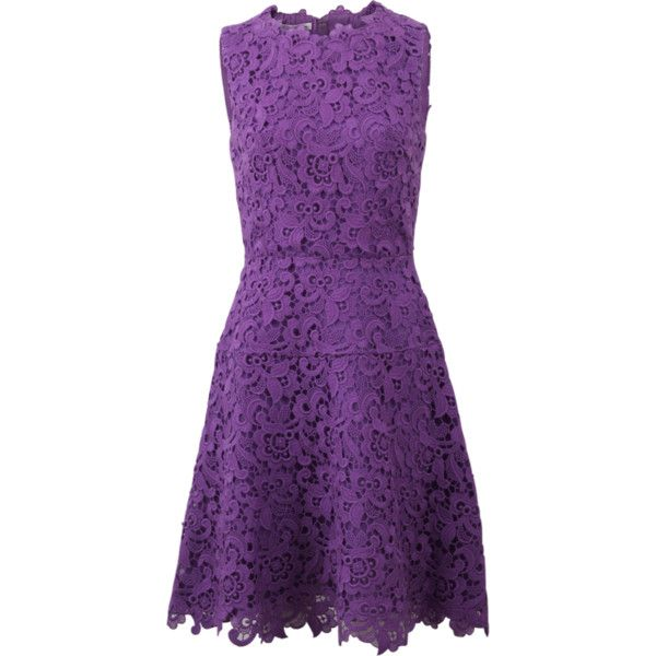 Oscar De La Renta Lace A-line Dress ($3,490) ❤ liked on Polyvore featuring dresses, vestidos, short dresses, lace mini dress, knee length cocktail dresses, mini dress and a line cocktail dress