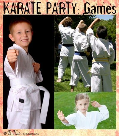 bnute productions: Karate Party Ideas: Decorations, Games, Food, and Crafts