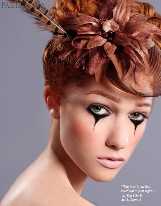 "Nicole Fox Beauty Editorial for Fashion Q Magazine Summer 2010, ""crying eyes"" makeup"