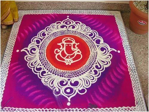 beautiful design for rangoli