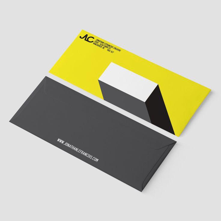 Envelope design for Jonathan Lefrançois Creative  #stationery #graphicdesign #visualidentity #branding #logo #design