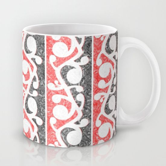 Maori Kowhaiwhai Distressed Pattern Mug by Mailboxdisco