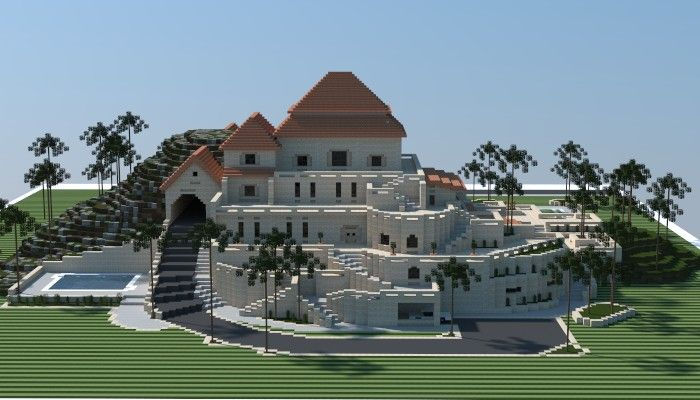 Sandstone Mansion Minecraft Project