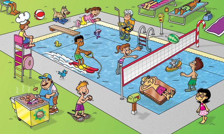 Resultat d'imatges de laminas editoriales piscina
