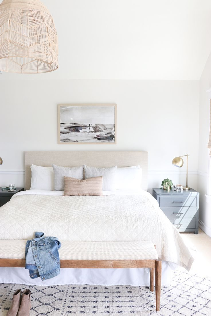 Best Casual Hamptons Master Bedroom Reveal The Look For Less 400 x 300