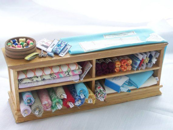 DOLLS HOUSE MINIATURES - SEWING COUNTER